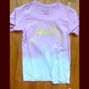 Metallica tie dye tee. (3 for $9)